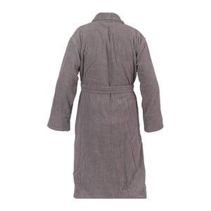 Antracitově šedý unisex župan z čisté bavlny Casa Di Bassi, XL/XXL