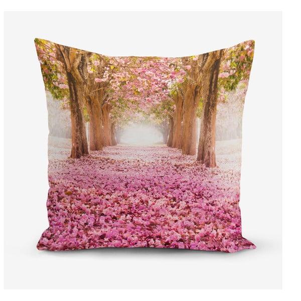 Față de pernă din amestec de bumbac Minimalist Cushion Covers Pinky, 45 x 45 cm