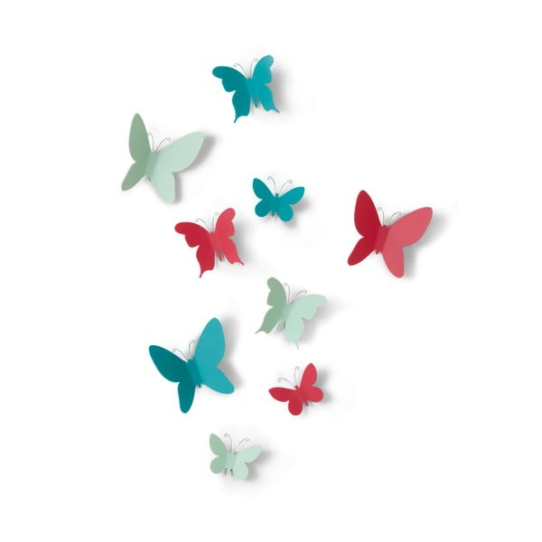 Set 9 decorațiuni 3D de perete Umbra Butterflies