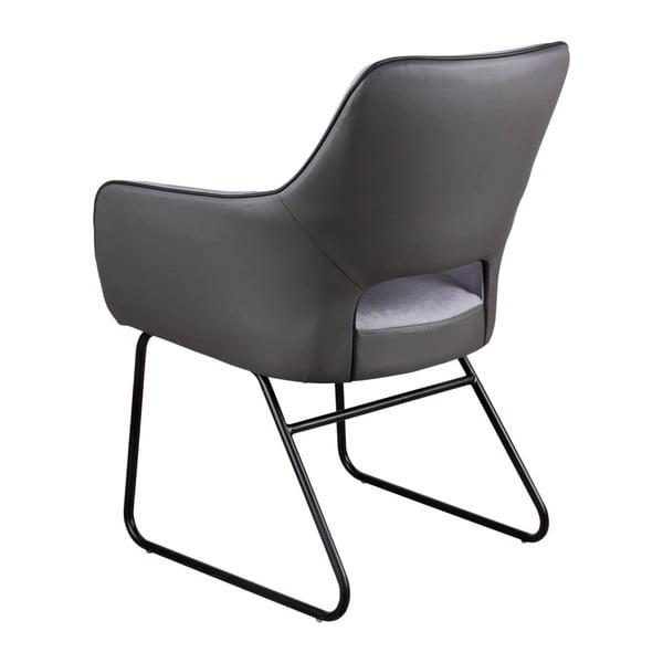 Šedá židle sømcasa Delia
