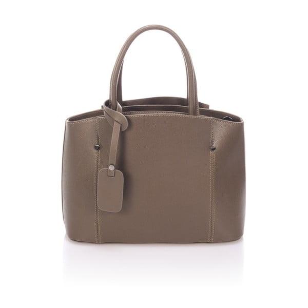 Hnědá kožená kabelka Lisa Minardi Halona
