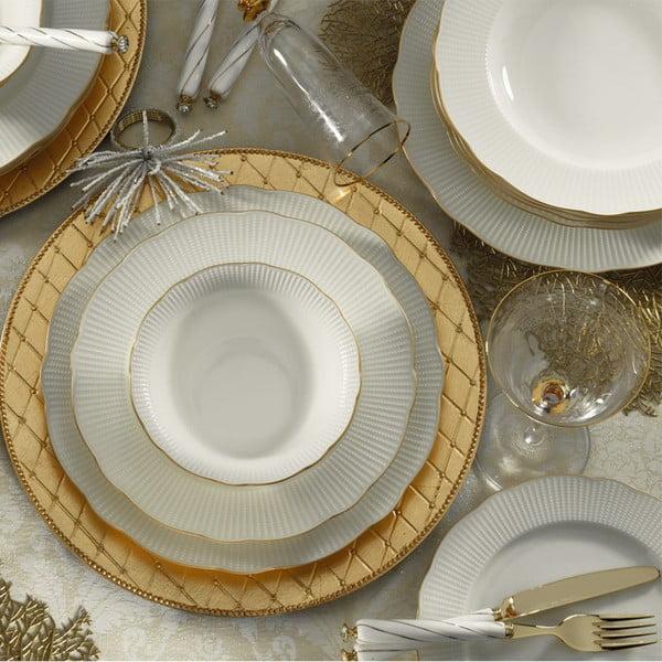 24-częściowy zestaw talerzy z porcelany Kutahya Francis