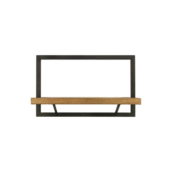 Poliță perete cu detalii din lemn de mango HSM collection Rutno, 32 x 51 cm