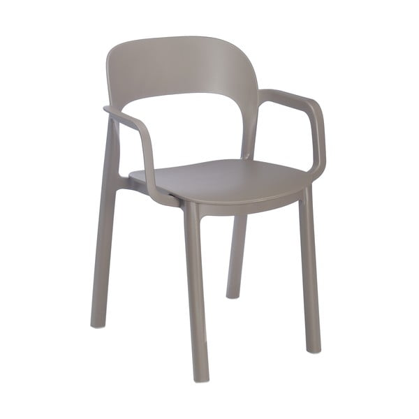 Set 4 scaune de grădină cu cotierei Resol Ona, maro