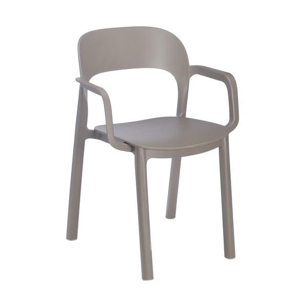 Sada 4 hnědých zahradních židlí s područkami Resol Ona