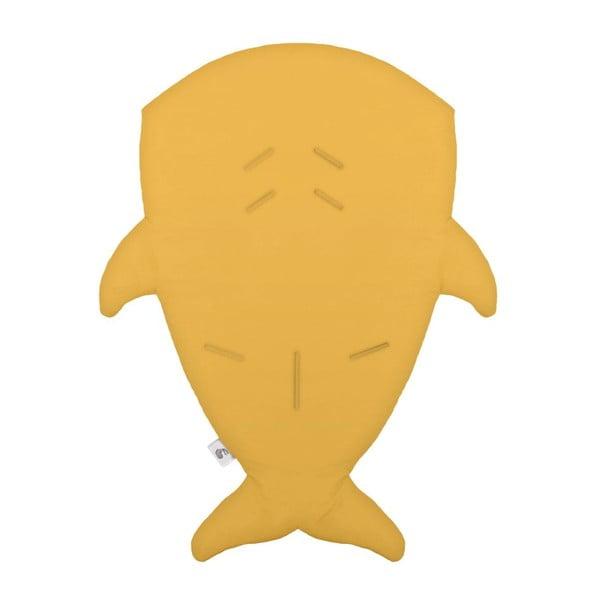 Dětský spací vak Yellow Fish with Squares