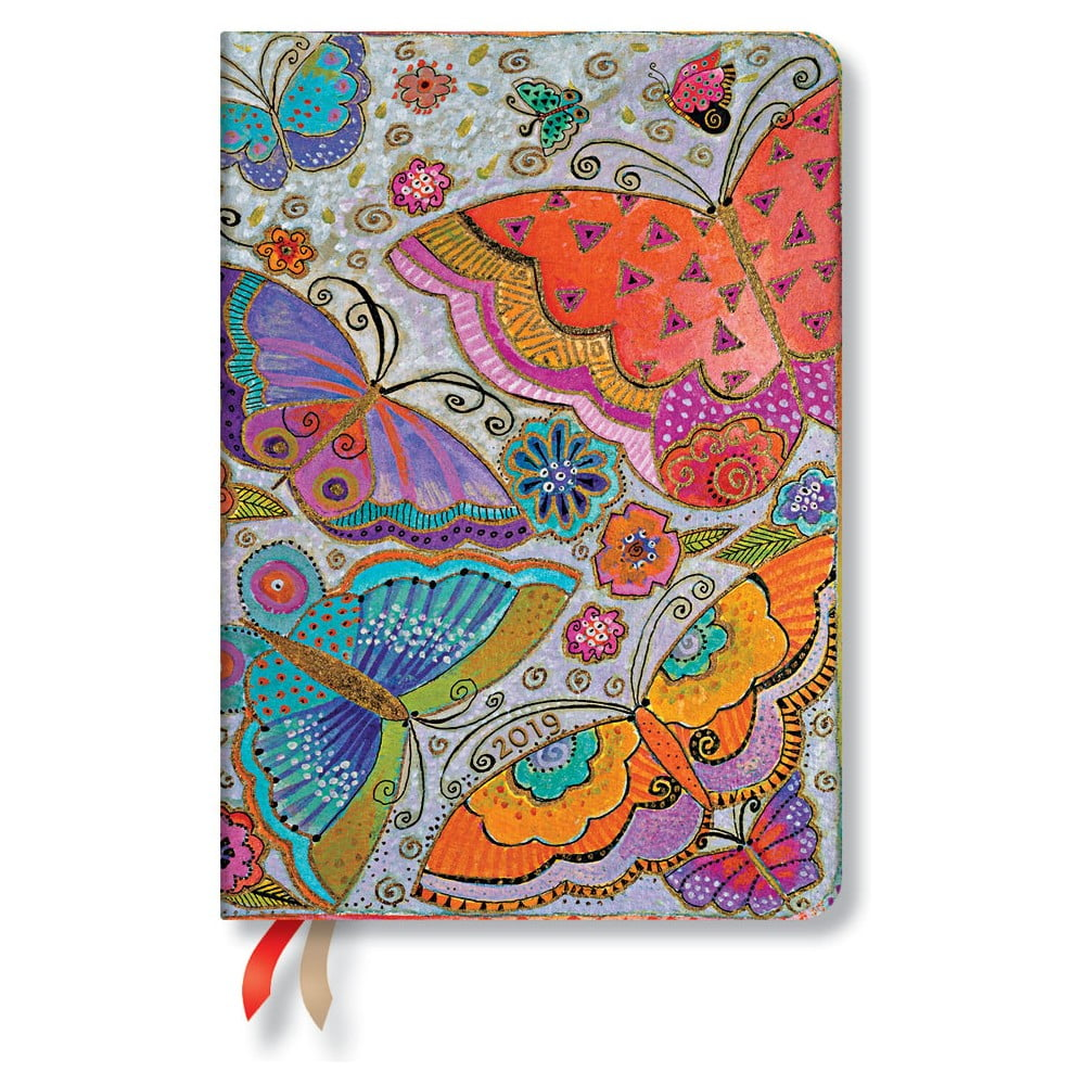 Diář na rok 2019 Paperblanks Flutterbyes Horizontal, 12 x 17 cm