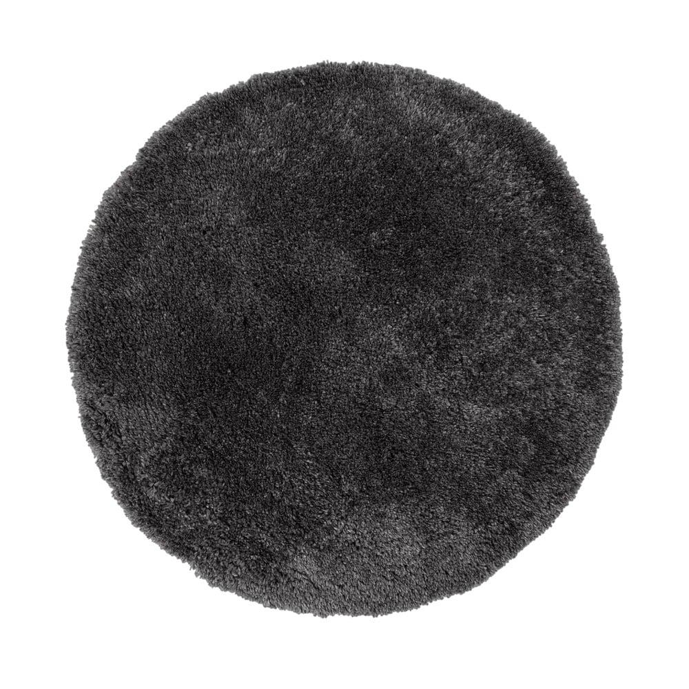 Antracitový koberec Flair Rugs Sparks, ⌀ 133 cm