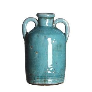 Keramická váza Sil Turquoise, 14x8 cm