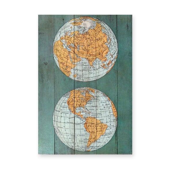 Dřevěná cedule The World