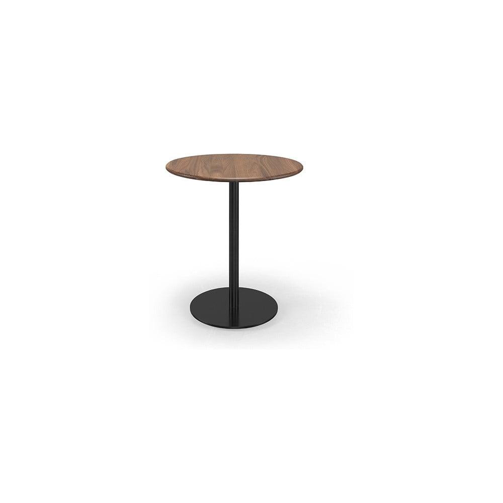 Kavárenský stolek s deskou z ořechového dřeva Wewood - Portuguese Joinery Bistrô, Ø70cm