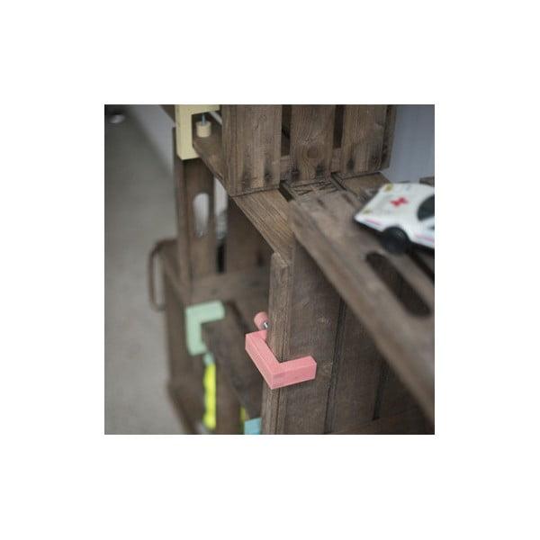 Dřevěná svorka na vytvoření polic z přepravek Clamp Fix, modrá