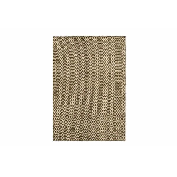Ručně tkaný koberec Brown Dots Kilim, 107x158 cm