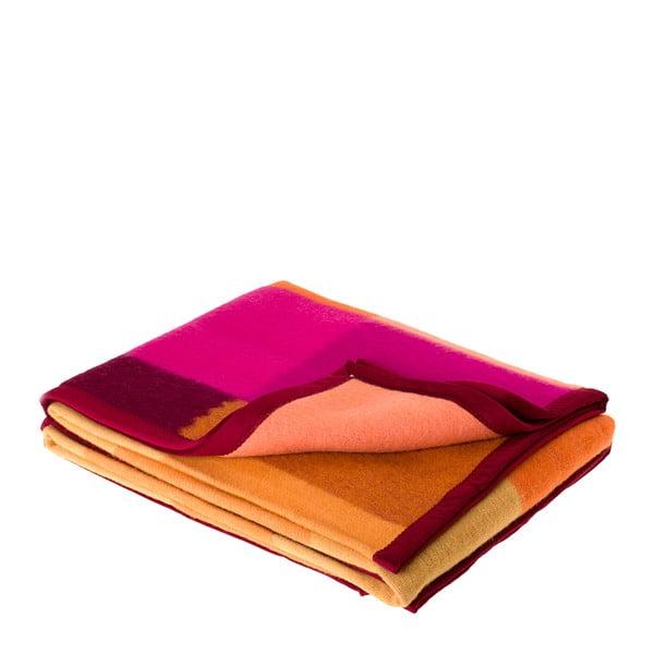 Vlněný pléd Emilia 210x160 cm, oranžový