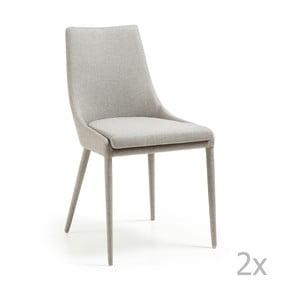 Sada 2 krémových židlí La Forma Dant