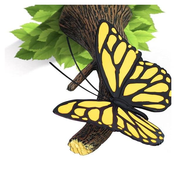 Nástěnné světlo s nálepkou Yellow Butterfly