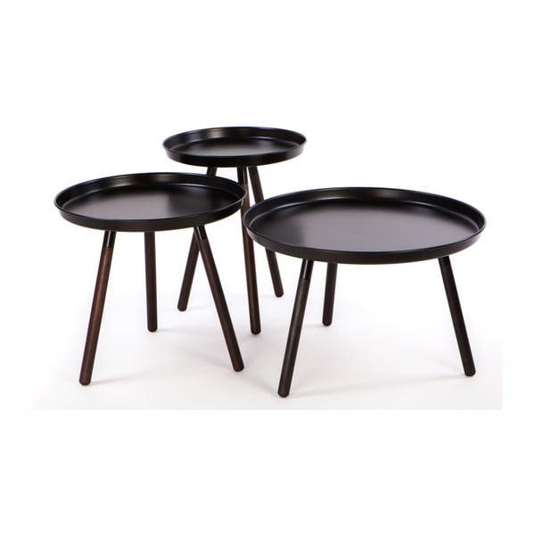Sticks 3 db-os fekete tárolóasztal szett - Nørdifra