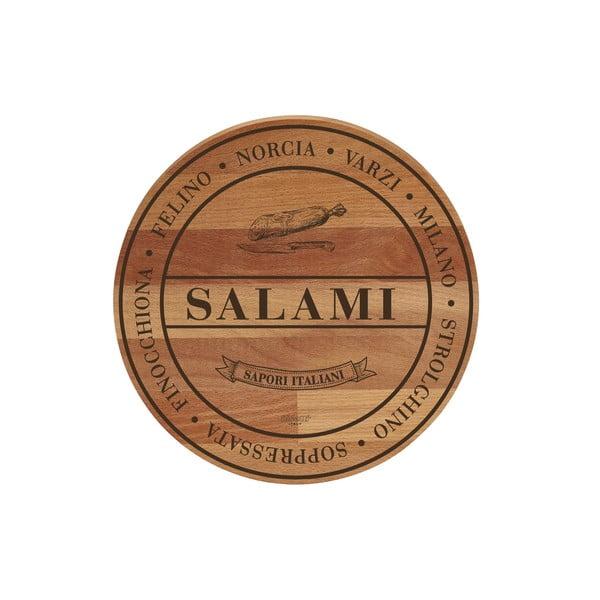 Deska do krojenia z drewna bukowego Bisetti Broad Salami, ø 30 cm