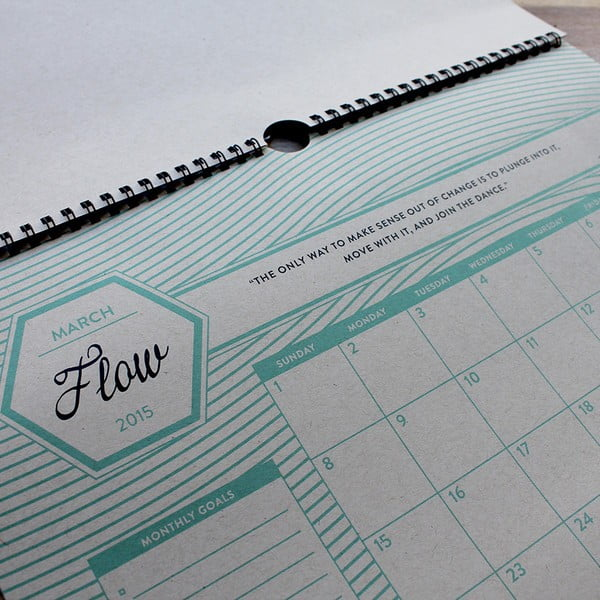 Kalendář na rok 2015 Holstee