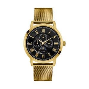 Pánské hodinky s páskem z nerezové oceli ve zlaté barvě Guess W0871G2