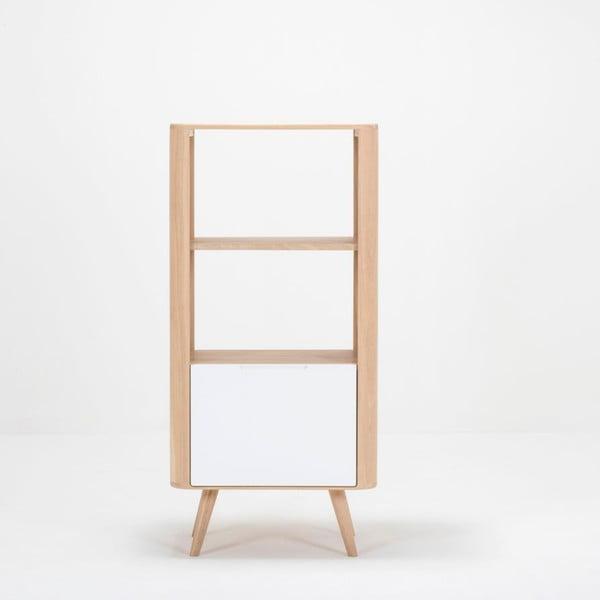 Ena tölgyfa könyvespolc, 60 x 42 x 125 cm - Gazzda