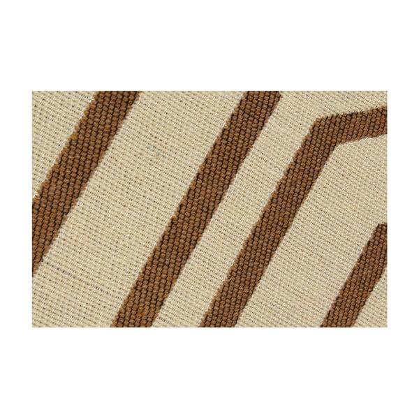 Hnědo-béžový koberec Ya Rugs Kenar, 80x150cm