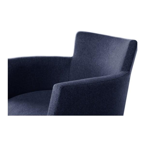 Tmavě modrá židle s černými nohami z bukového dřeva Ted Lapidus Maison Santal
