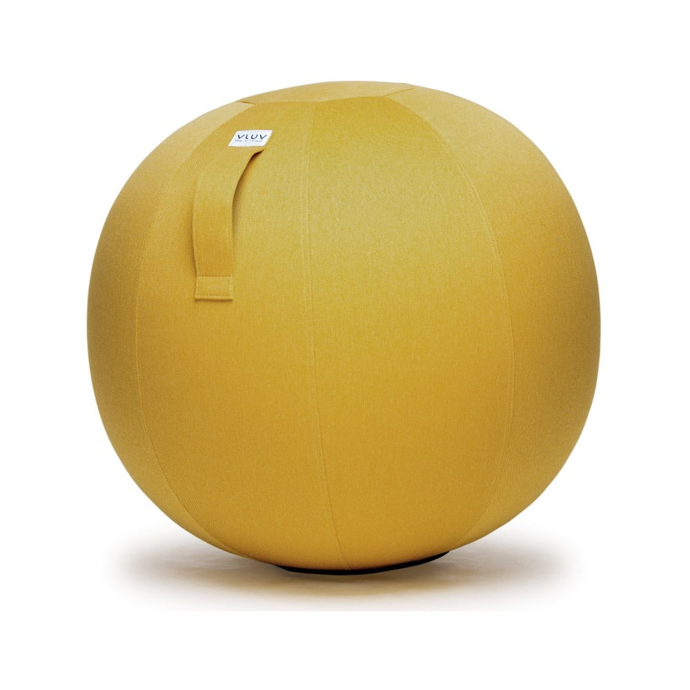 Žlutý sedací míč VLUV Leiv, Ø60- 65cm