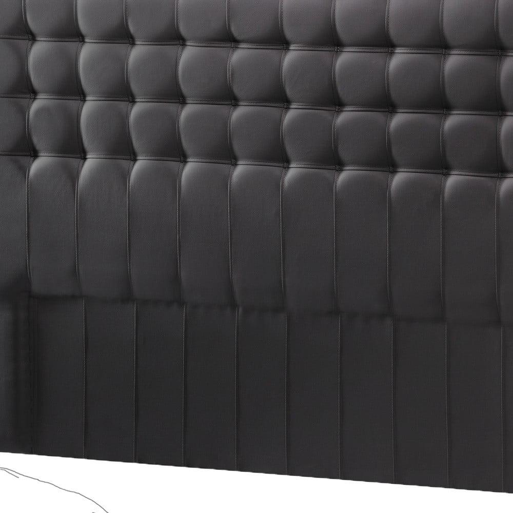 Tmavě šedé čelo postele Novative Sylphyde, 140 x 118 cm