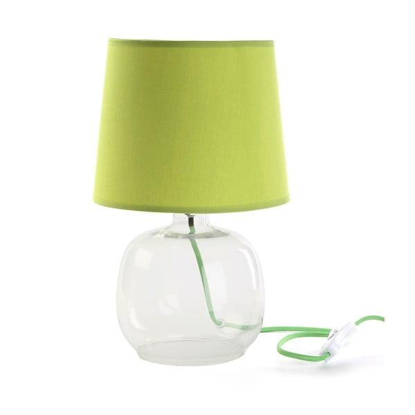 Zelená skleněná stolní lampa Versa Bobby, ø22cm