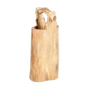 Dekorativní vědro z teakového dřeva Massive Home Bucket, výška70cm