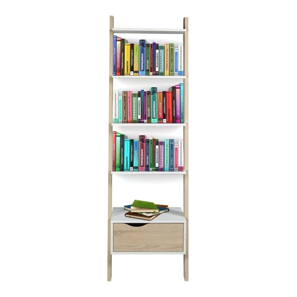 Dřevěná knihovna se zásuvkou Esidra Eliseo