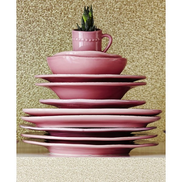 Keramický talíř Oval Pink