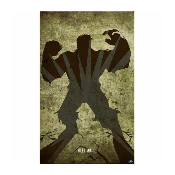 Cedule Hulk, 56x45 cm