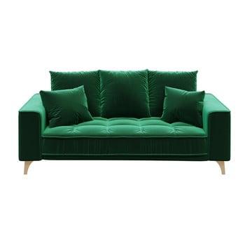 Canapea cu 2 locuri devichy Chloe, verde închis