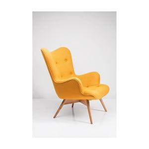 Žluté křeslo Kare Design New Design