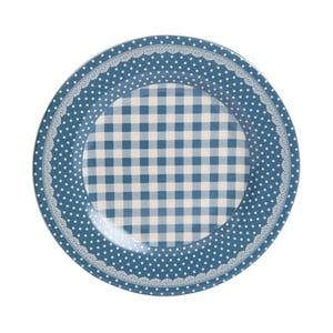 Jídelní talíř Blue Dots&Checks, 25.5 cm