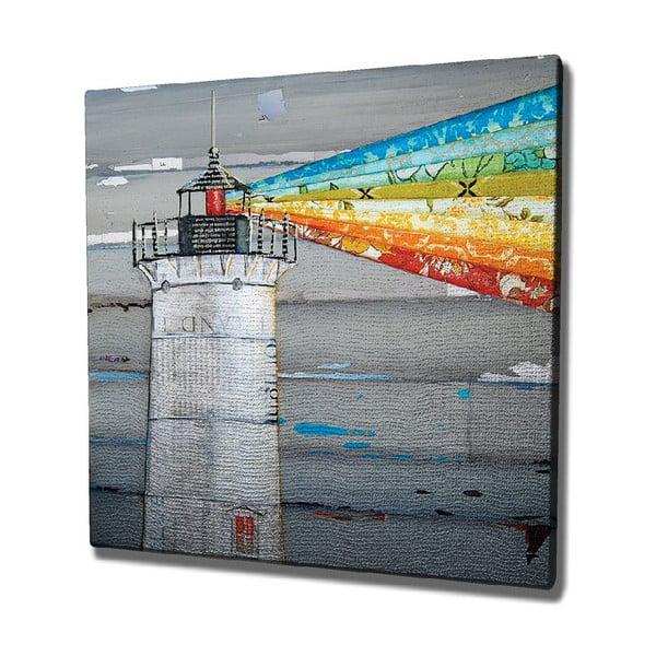 Lighthouse vászon fali kép, 45 x 45 cm