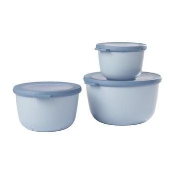Set 3 cutii pentru gustări Rosti Mepal Cirqula Nordic, albastru imagine