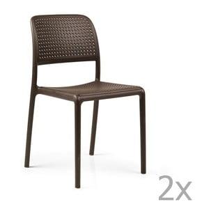 Sada 2 hnědých zahradních židlí Nardi Bora Bistrot