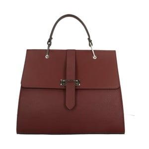Vínově červená kožená kabelka Roberto Buono Quadra