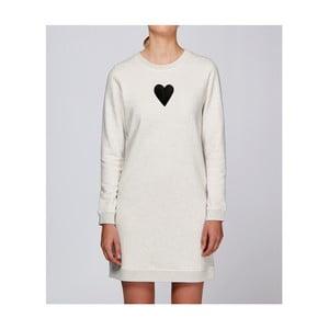 Dámské krémové sportovní šaty s motivem Spolu od Lény Brauner & IM Cyber pro KlokArt, vel.L