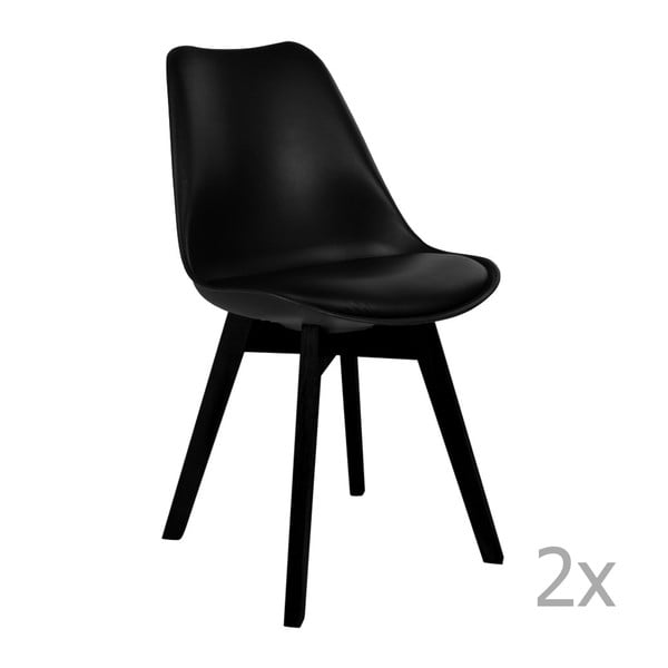 Set 2 scaune House Nordic Viborg, negru