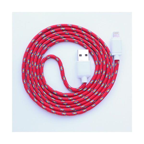 Nabíjecí kabel Lightning pro iPhone 5 a iPhone 6 Red Royal, 1,5 m
