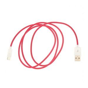Micro-USB kabel, červený
