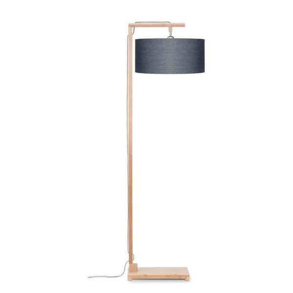 Himalaya állólámpa sötétszürke búrával és bambusz lámpatesttel - Good&Mojo