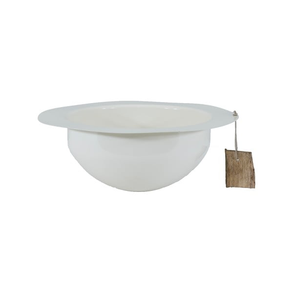 Kovová mísa Bowl 25 cm, bílá