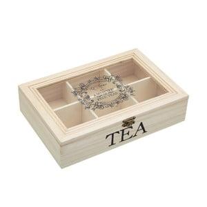 Dřevěná krabička na čaj Le'Xpress