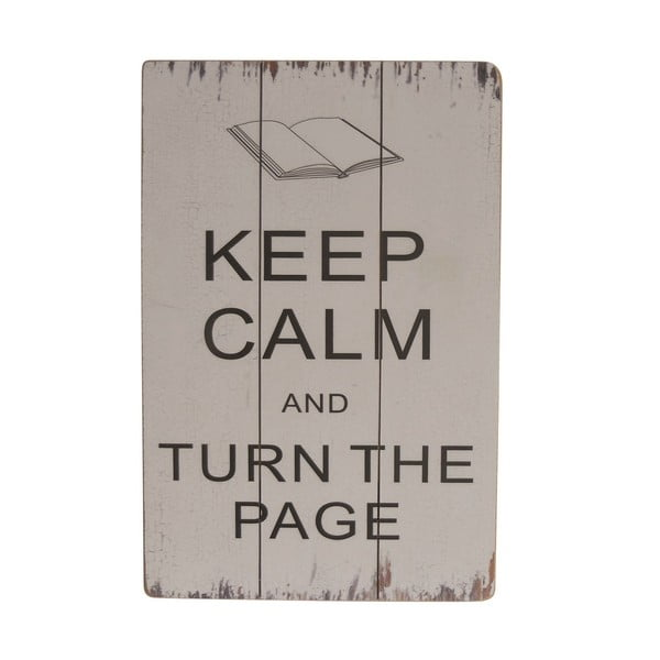 Závěsná cedule Keep Calm and Turn the Page