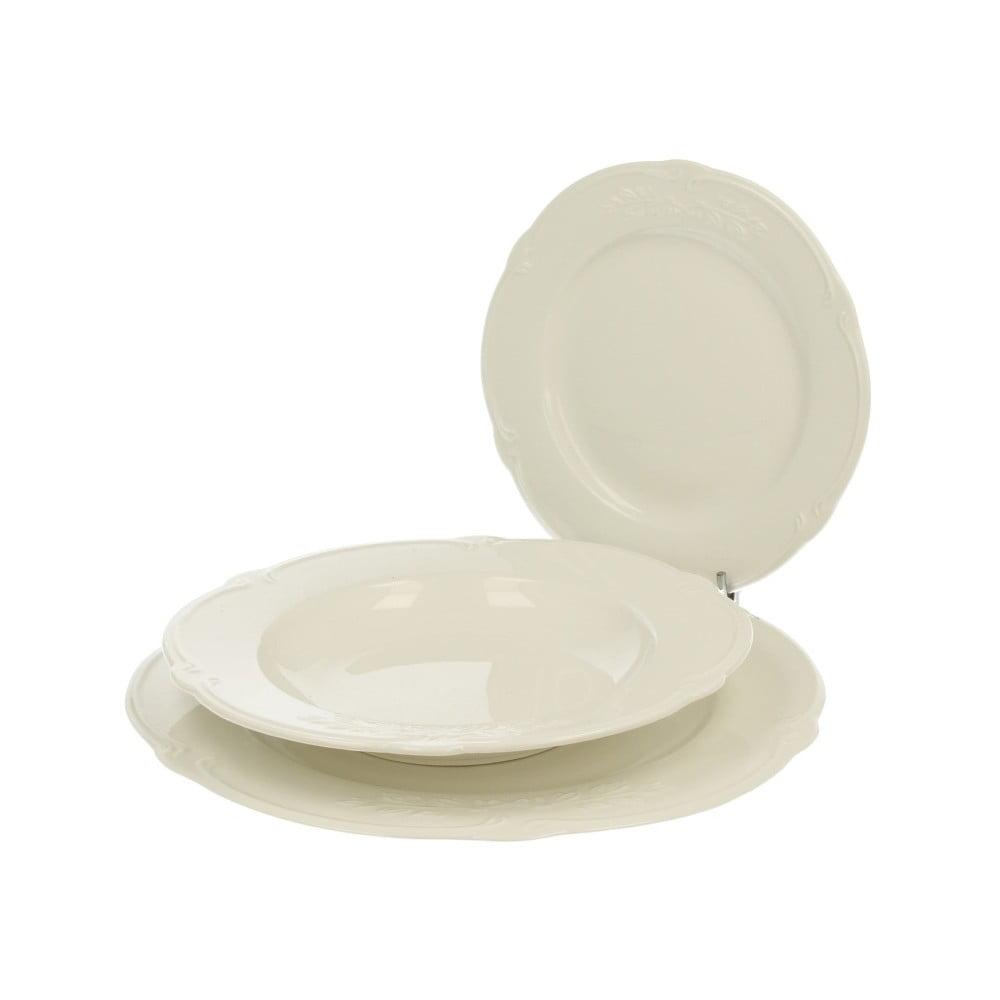 18dílný bílý porcelánový jídelní set Duo Gift Luxury
